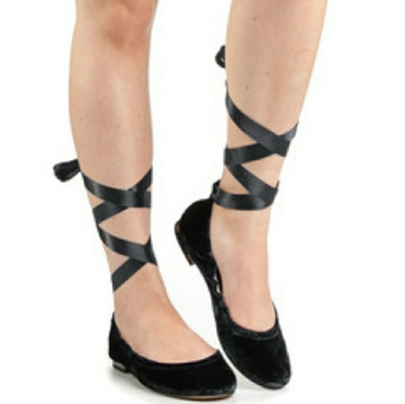 63b2e6602a Sam Edelman Shoes | Ballerina Flat With An Ankle Tie Ribbon | Poshmark